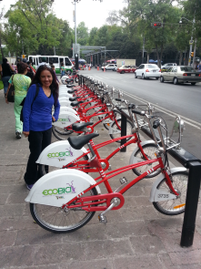 Mexico City´s Ecobici bike sharing system is helping  people to expend less time in traffic.
